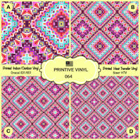 Siser Craft vinyl- 453 Tartan Plaid Pattern Printed HTV Oracal