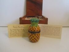 PEPSI LIMOGES PINEAPPLE WITH KOA WOOD BOX CENTENNIAL 1998 HAWAII