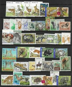 ANIMALS fine page of issues mixed Used/Mint