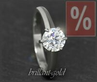 Diamant Solitär 585 Gold Ring 1,01 ct, Top Wesselton, Si1; inkl. DPL Zertifikat
