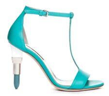 Alberto Guardiani Lipstick High Heels Strappy Shoe Turquoise Size uk 5.5 eu 38.5
