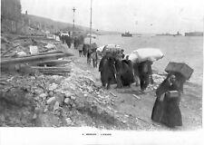 Tremblement de terre à Messine ruines en Sicile et Calabre Italie GRAVURE 1909