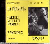 Verdi: La Traviata / Monteaux, Carteri, Valletti, Warren, ROM 1956 - CD Myto