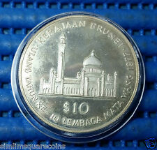1977 Brunei 10th Anniversary of the Brunei Currency Board $10 Silver Proof Coin