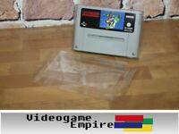 10x Schutzhüllen 0,4mm PET Super Nintendo SNES Modul Cartridge Hüllen Protector