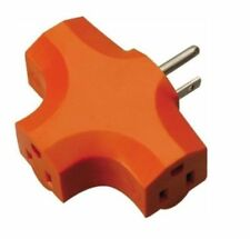 New 3 Way Outlet Wall Plug Grounded Adapter Electric Multi T-shaped EF-10