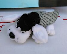 "Pound Puppies Tuxedo Outfit Mini 1996 5"" White Pup"