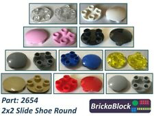 NEW & GENUINE Lego Part 2654 2x2 Slide Shoe Round Plate (Choose 1,2,4,6,8 or 10)