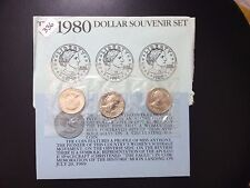 1980 Susan B. Anthony Dollar / SOUVENIR set of 3 coins. UNCIRCULATED.