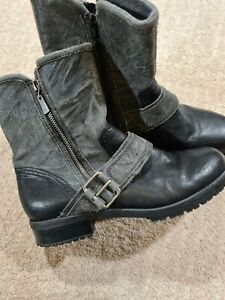 Clarks Black Ankle Boots Size 7