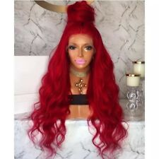 Red Curly Wavy Hair . Lace Front Wig. Human