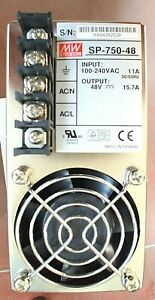 New SP-750-48 MEAN WELL 750W Single Output Switching Power Supply Input:100~240