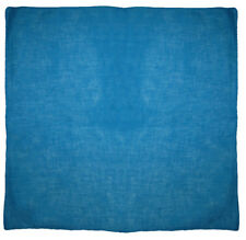 "Wholesale Lot of 12 Aqua Blue Plain Solid Color 100% Cotton 22""x22"" Bandana"
