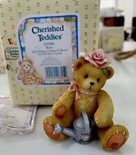 Cherished Teddies ~ Everything is Coming Up Roses ~ Figurine 1996 Comes In Box