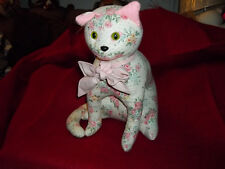 Vintage Country Cat Rag Doll Stuffed Ribbon