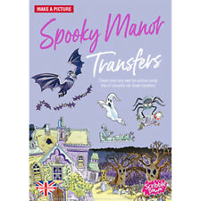 Scribble Down Transfers Activity Pack Kids Stickers - Spooky Manor