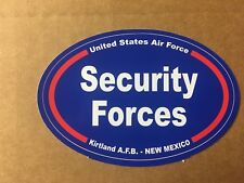 US AIR FORCE SECURITY FORCES KIRTLAND NEW MEXICO Sticker - 4 3/4 Inch OVAL
