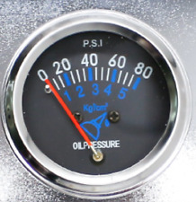 2 Oil Pressure Gauge 0 80 Psi Mechanical Auto Gauge