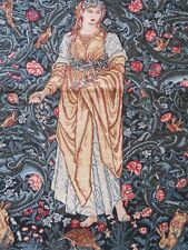 TAPESTRY WALL HANGING FLORAL LADY BEAUTIFUL ART & CRAFT DESIGN