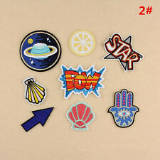 8PCS #2 Bag Clothes Fabric Applique Embroidery DIY Sew Iron On Patch Badge New