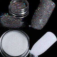 2Boxes Nail Art Holographic Glitter Powder Dust Holo Laser Black Silver Manicure