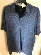 Van Heusen Men's Size Large Navy Blue Polo Fall Clothing