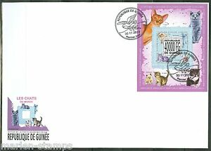 GUINEA 2013 DOMESTIC CATS SOUVENIR SHEET FIRST DAY COVER