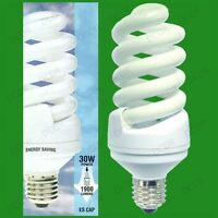 2x 30W=150W Daylight SAD Low Energy/Power CFL 6400k White Light Bulb ES E27 Lam