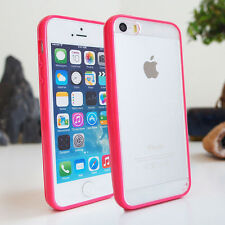 Slim Gel TPU Bumper Cover Clear Hard Back for iPhone 5c 5s 5 4 4s Silicone Case