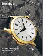 SOTHEBY'S GENEVA WATCH Breguet IWC Omega Patek Piguet Rolex Vacheron Catalog 12