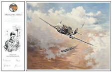 "Heinz Krebs Me-109 Co-signed Print ""Star of Africa"""