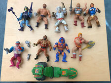 Masters of The Universe He-man Lot of 9 Action Figures and Road Ripper Vehicle