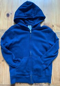 PS by AEROPOSTALE Boy's Size 8 Navy Fleece Lined Zip Up Hoodie EUC