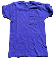 Vintage Fruit Of The Loom Pocket T-Shirt Sz L Made In USA