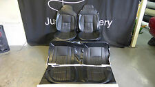 LH torana  seat covers with Golfball Black Front and Rear