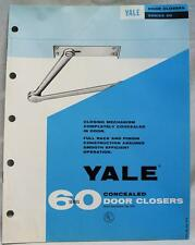 60 SERIES YALE CONCEALED DOOR CLOSERS ADVERTISING SALES BROCHURE GUIDE VINTAGE