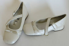 Smartfit Girls Ivory Velcro Mary Janes Dress Shoes Size Youth 11