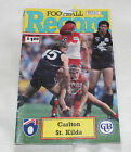 1992 AFL Football Record Carlton Blues v St Kilda Saints Vol.81 No.6