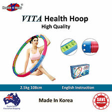 VITA HEALTH Hoola Hula Hoop Diet Massage Weighted Exercise Magnetic Fitness Gym