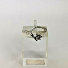18ct White Gold Hallmarked 20pt Diamond Solitaire Ring.  Goldmine Jewellers.