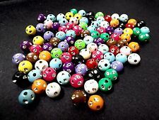 150pcs 8mm Acrylic ASSORTED Round Beads - Laced with Silver Sparkles