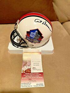 Art Donovan signed Baltimore Colts Hall of Fame HOF NFL Mini Helmet JSA