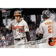 Trey Mancini 2017 Topps Now #39 RC /463* -1st Orioles to 5HRs in 1st 10 games