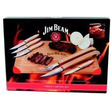 Jim Beam® BBQ 7-tlg. Schneidebrett-Set Grillen Steakmesser Grillbesteck