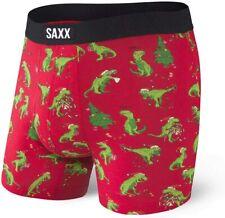 Saxx Mens Undercover BB Fly Boxers Xmas Dinosaur