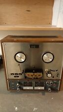 TEAC REEL-TO-REEL MODEL A-40105S TAPE RECORDER WOOD CASE ((
