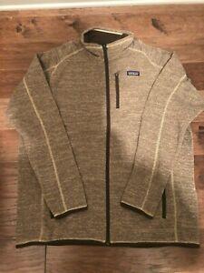 NWT Men's Patagonia Better Sweater Full Zip Jacket Size Large Pale Khaki