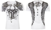 Xtreme Couture AFFLICTION Mens T-Shirt OVER THE TOP Skulls Tattoo Biker UFC $40