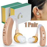 Pair Digital Tone Hearing Aids Aid Behind The Ear Sound Amplifier Enhance Sound
