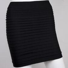 Women High Waist Pleated Stretch Sexy Bodycon Mini Skirt Short Pencil Dress